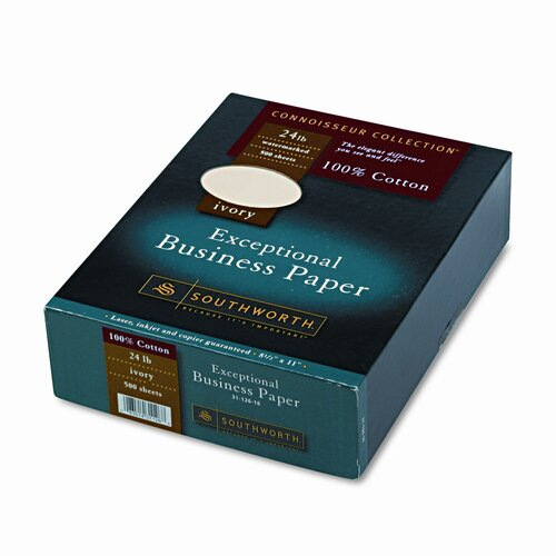 Southworth Company 100% Cotton Business Paper, 500/Box