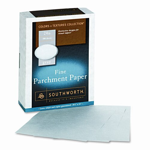Southworth Company Parchment Specialty Paper, 24 Lbs., 8-1/2 X 11, 500/Box