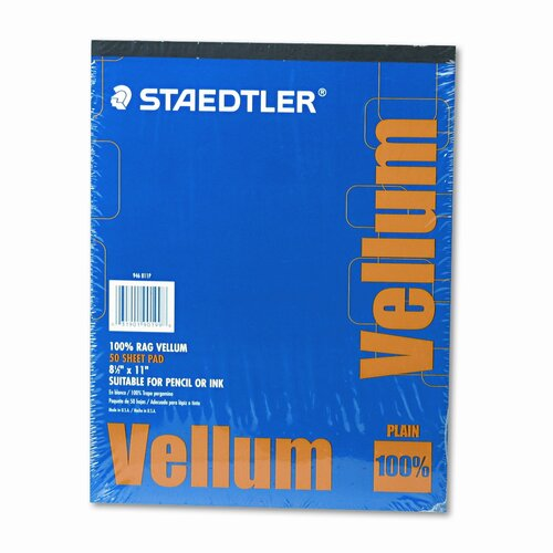 Staedtler, Inc. Clearprint Design Vellum Paper, 50 Sheets/Pad