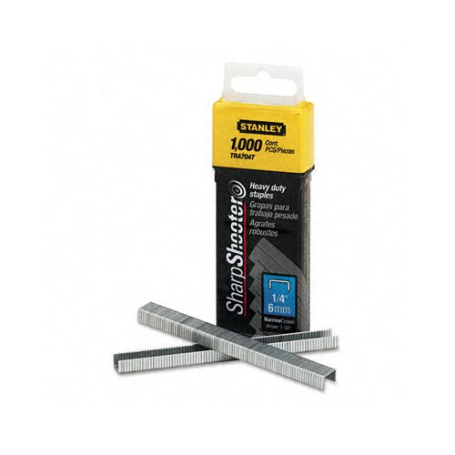 Stanley Bostitch Sharpshooter 1/4 Inch Leg Length Staples, 1,000/Box