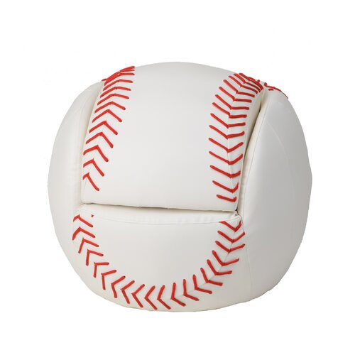 Gift Mark Baseball Kid's Novelty Chair and Ottoman Set