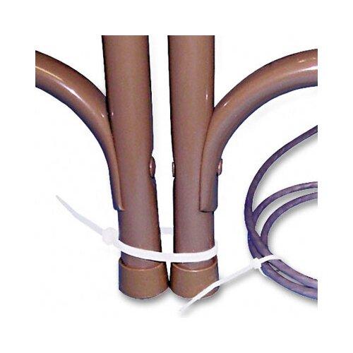 Tatco Tamper-Proof Nylon Cable Ties, 4 x 1/16, 1,000 Ties per pack