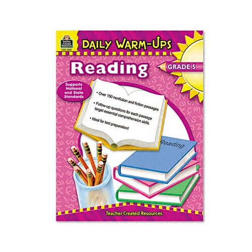 Teacher Created Resources Daily Warm-Ups: Reading, Grade 5, Paperback, 176 Pages