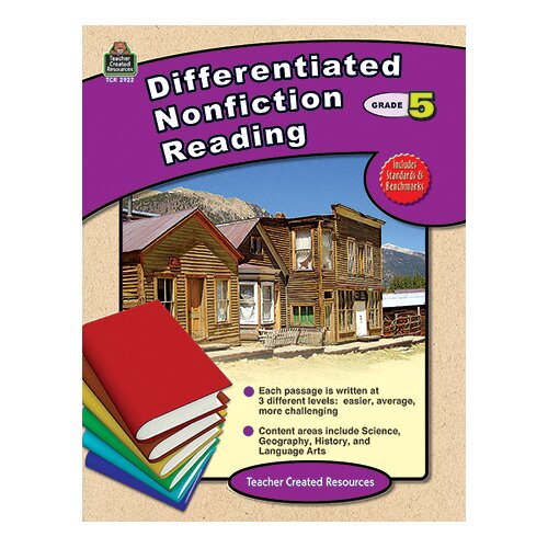 Teacher Created Resources Differentiated Nonfiction Reading