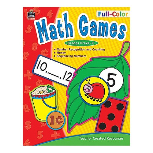 Teacher Created Resources Full-color Math Games Gr Pk-k