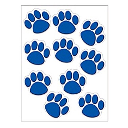 Teacher Created Resources Accents Blue Paw Prints