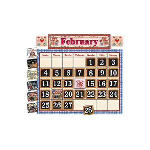 Teacher Created Resources School Time Calendar Bulletin Brd