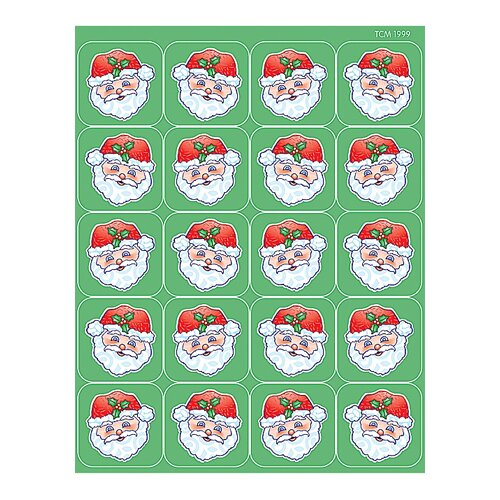 Teacher Created Resources Santa Stickers