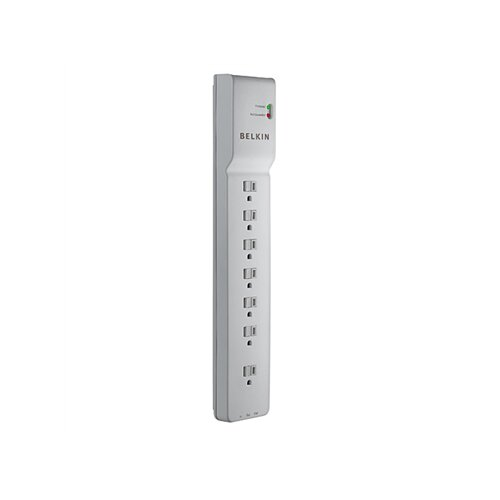Belkin Home Series Surgemaster Surge Protector, 7 Outlets, 12Ft Cord