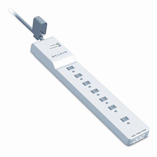 Belkin Home Series Surgemaster Surge Protector, 7 Outlets, 6Ft Cord