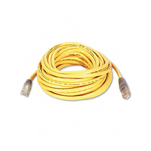 Belkin Cat5e 10/100 Base-T Crossover Patch Cable, 25ft, Yellow