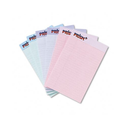 Tops Business Forms Prism Plus Colored Junior Legal Pads, 6 50-Sheet Pads/Pack