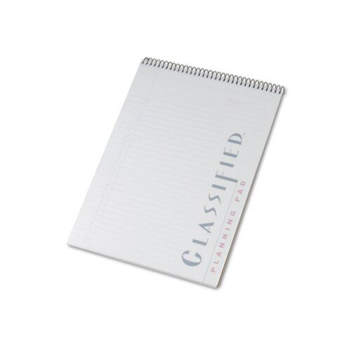 Tops Business Forms Classified Colors Notebook with White Cover, Legal Rule, Letter, 70 Sheets