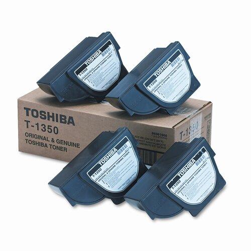 Toshiba T1350 OEM Toner Cartridge, 4300 Page Yield, Black