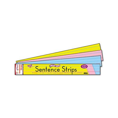 Trend Enterprises Wipe-Off Sentence Strips, 30/Pack