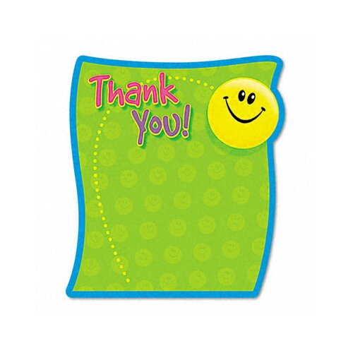 Trend Enterprises Thank You Note Pad, 50 Sheets/Pad
