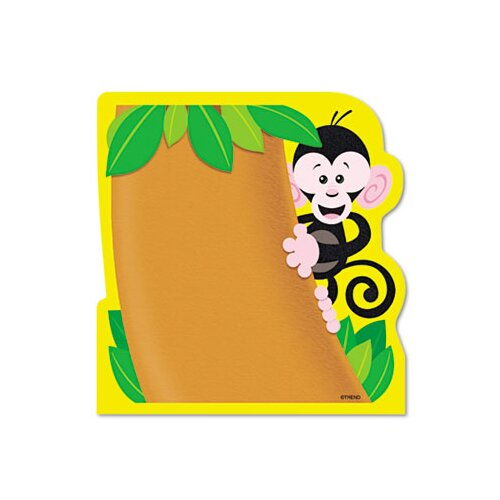 Trend Enterprises Note Pad with Monkey Design , 50 Sheets/Pad