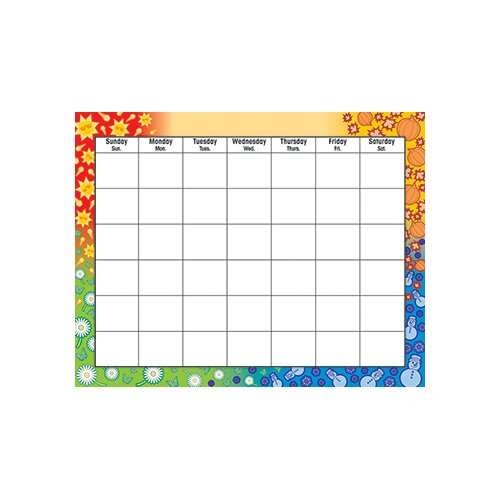 Trend Enterprises Wipe-off Chart Calendar 22 X 28