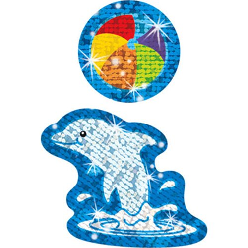 Trend Enterprises Sparkle Stickers Dynamic Dolphins