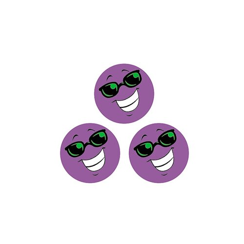 Trend Enterprises Stinky Stickers Purple Smiles/grape