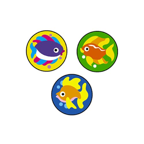 Trend Enterprises Superspots Stickers Fabulous Fish