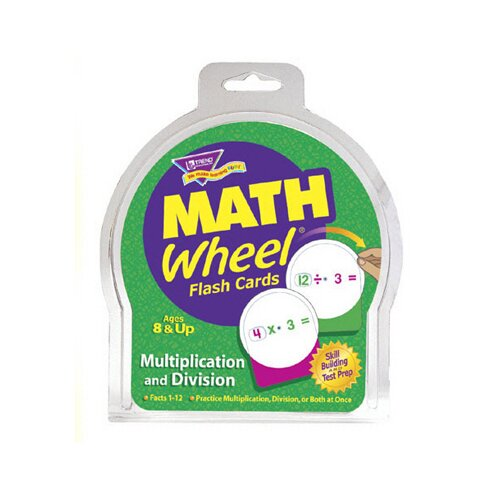 Trend Enterprises Math Wheel Flash Cards 12/pk