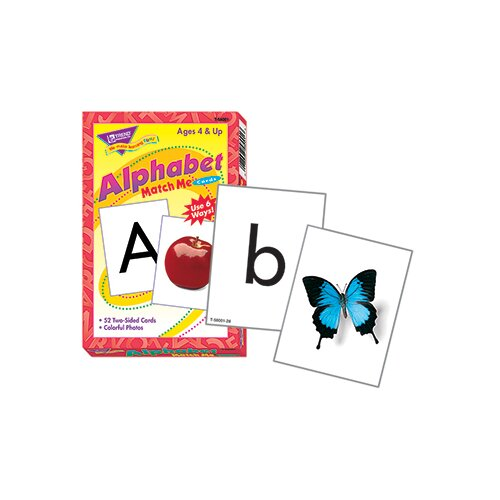 Trend Enterprises Match Me Cards Alphabet 52/box