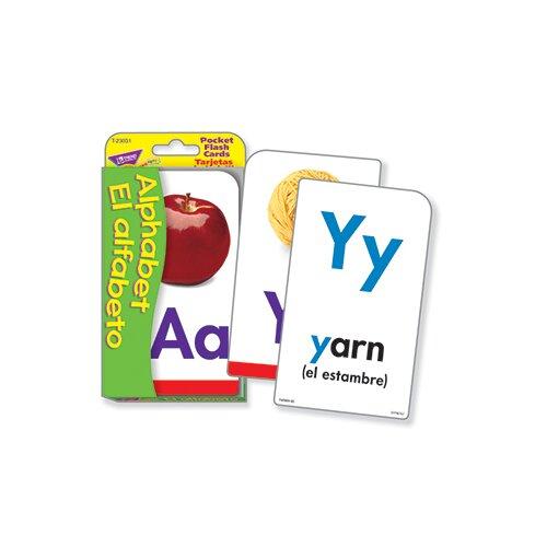 Trend Enterprises Pocket Flash Cards Alphabet El