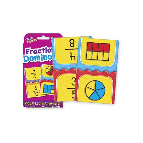 Trend Enterprises Challenge Cards Fractions Domino