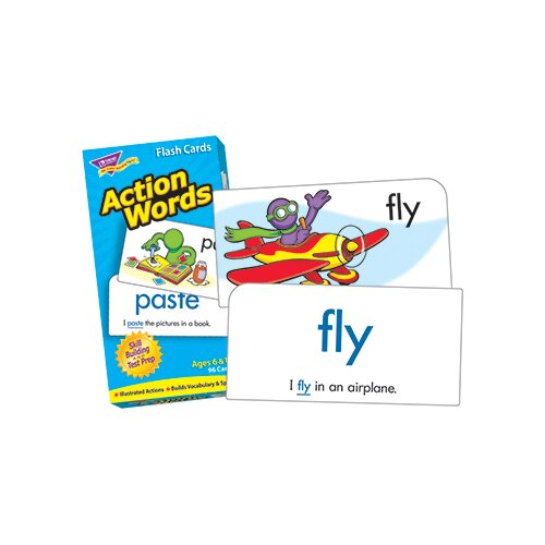 Trend Enterprises Flash Cards Action Words 96/box
