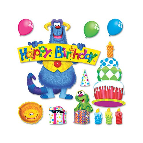 Trend Enterprises Furry Friends Birthday Fun Bulletin Board Set