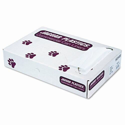 Jaguar Plastics® Super Extra-Heavy Liners, 33 Gal, 16 Mic, 33 X 40, 200/Carton