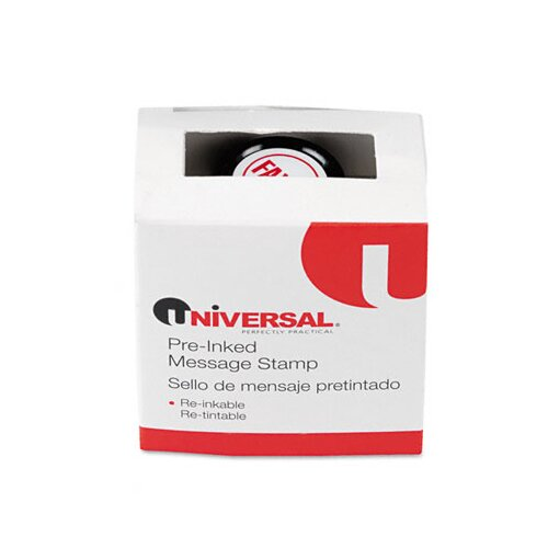 Universal® Round Message Stamp, Faxed, Pre-Inked/Re-Inkable