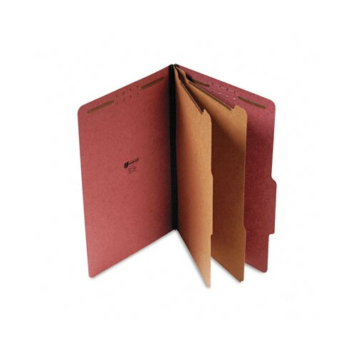 Universal® Pressboard Classification Folder, Legal, Six-Section, 10/Box