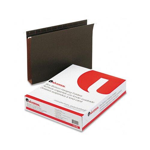 Universal® Two Inch Box Bottom Pressboard Hanging Folder, 25/Box