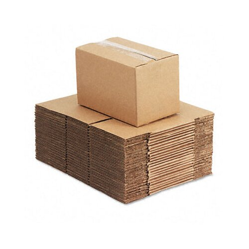 "Universal® Corrugated Kraft Fixed-Depth Shipping Carton, 25/Bundle (6"" H x 10"" W x 6"" D)"