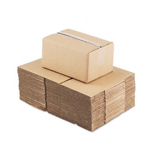 "Universal® Corrugated Kraft Fixed-Depth Shipping Carton, 25/Bundle (20.5"" H x 14.5"" W x 8"" D)"