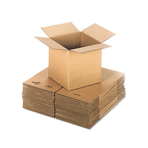 "Universal® Corrugated Kraft Fixed-Depth Shipping Carton, 25/Bundle (24"" H x 24"" W x 9"" D)"