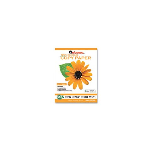 Universal® 100% Recycled Copy Paper, 5000 Sheets/Carton