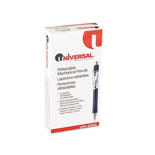Universal® Comfort Grip Mechanical Pencil, 12/Pack