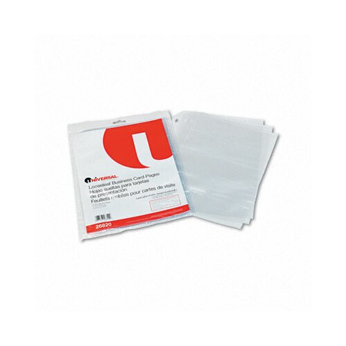 Universal® Business Card Binder Pages, 10 Pages/Pack