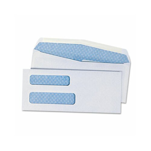 Universal® Double Window Business Envelope, #8.63, 500/Box