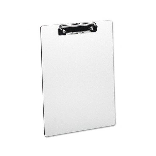 Universal® Brushed Aluminum Plastic Clipboard