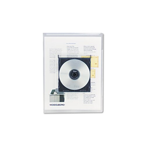 Universal® Deluxe Locking Project File with Cd-Rom Holder, 25/Pack