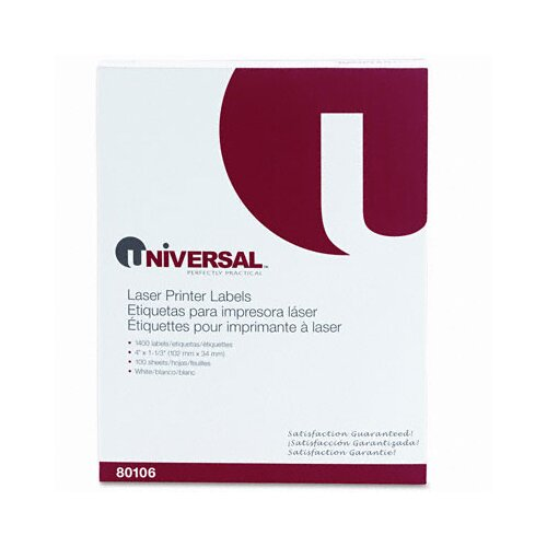 Universal® Laser Printer Permanent Labels, 1400/Box