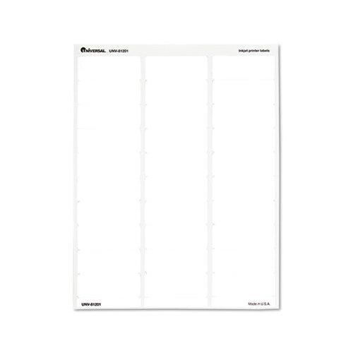 Universal® Inkjet Printer Labels, 30/Sheet, 750/Pack