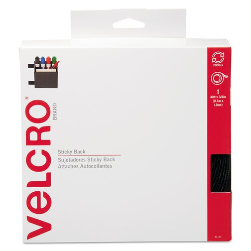 """VELCRO USA Inc Sticky-Back Hook and Loop Fasteners In Dispenser, 3/4"""" X 30 Ft. Roll"""