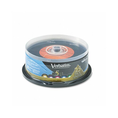 Verbatim Corporation Spindle Digital Vinyl Cd-R Discs, 700Mb/80Min, 25/Pack