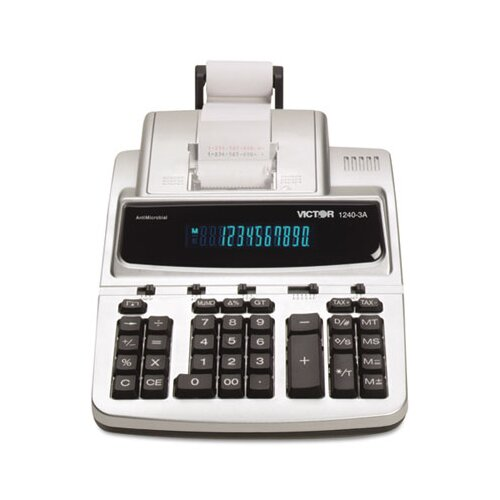 Victor Technology Antimicrobial Printing Calculator, 12-Digit Fluorescent
