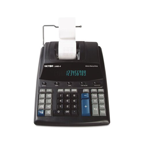 Victor Technology Extra Heavy-Duty Printing Calculator, 12-Digit Display